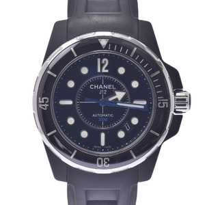 CHANEL J12 Marine Ceramic Rubber Automatic Mens Watch H2558