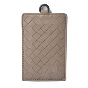 Bottega Veneta Card Case Pass Intrecciato Nappa CONCRETE 415855 V001N 2304