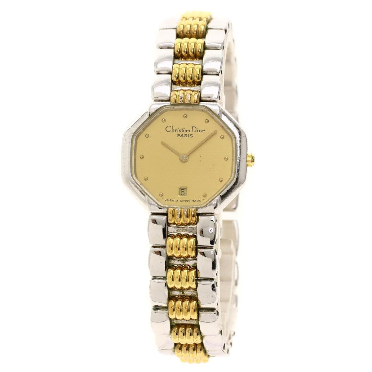 DIOR Octagon Gold Plated Steel Quartz Ladies Watch D48-203