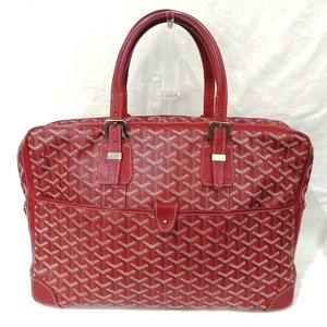 Goyard Ambassador PM Men's Leather Briefcase Red Color