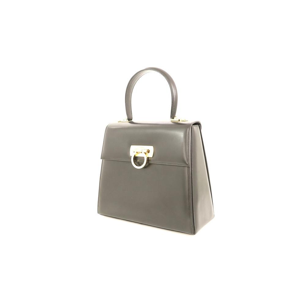 Salvatore Ferragamo Ferragamo gancini black leather 2way bag ladies