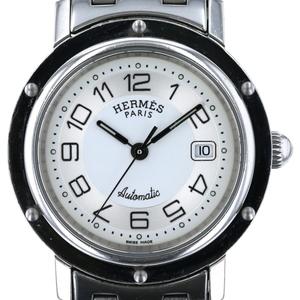 エルメス HERMES クリッパーデイト オートマチック CL5.410 自動巻き ホワイトシルバー文字盤 ボーイズ 時計