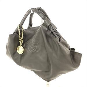 LOEWE Black Leather Nappa Aire Handbag