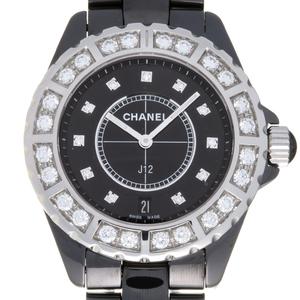 CHANEL J12 Diamond Ceramic Automatic Mens Watch H2428