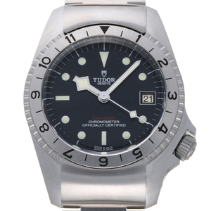 TUDOR Black Bay P01 Steel Leather Automatic Mens Watch 70150