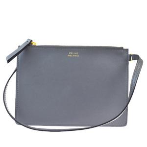 Celine Unisex Leather Pouch Gray