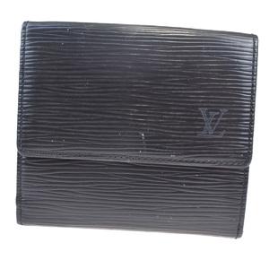 Louis Vuitton Epi Portomonet Biecult Credit M63482 Leather Wallet (bi-fold) Black