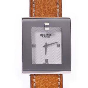 HERMES Belt Watch Steel Leather Quartz Ladies Watch BE1.210