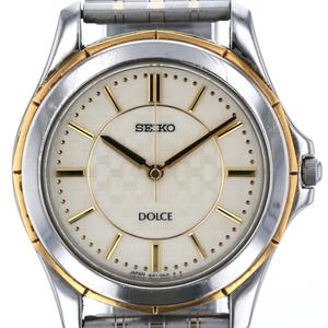 セイコー SEIKO ドルチェ 8J41-0AF0 クォーツ オフホワイト文字盤 メンズ 時計