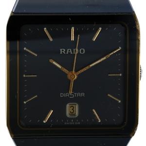 ラドー RADO ダイアスター 129.0266.3 デイト スクエア クォーツ ダークグレー文字盤 メンズ 時計