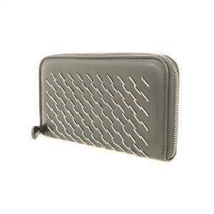 Bottega Veneta Leather Round Zipper Wallet Men Women