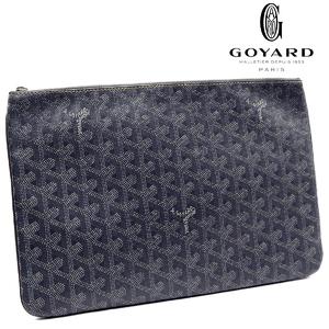 GOYARD Clutch Bag Second POCHETTE SENAT Senna MM Herringbone PVC Canvas Mens