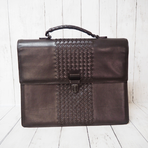 BOTTEGA VENETA Intrecciato Business Bag Briefcase Calf Leather 161239