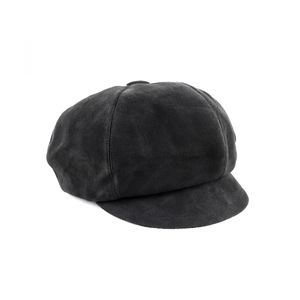 Christian Dior 18AW Suede Leather Casket Sheep Cap Hat Ladies 56