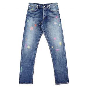 Christian Dior Dior Men 19SS VINTAGE 18.5 Selvage Denim Pants Jeans Boro Embroidery Men's 32 Indigo