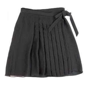 Salvatore Ferragamo Silk Pleated Skirt Wrap Women's 38