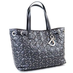 Christian Dior Lady Canage Tote Bag Hand-Coated Canvas
