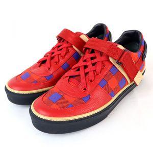 Louis Vuitton 12SS Masai Line Damier Check Pattern Freshman Sneakers Men's 5.5 / Blue