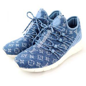 Louis Vuitton 18SS fast lane line sneakers monogram denim men's 6.5
