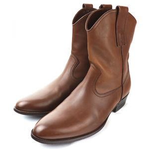 Gucci Leather Western Boots Short Mens 9D