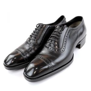 Tom Ford Punched Cap Toe Leather Shoes Perforation Men's 6.5