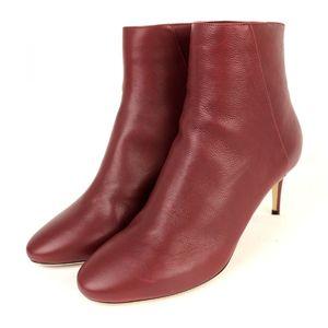 Jimmy Choo JIMMY CHOO DUKE 65 Leather Heel Booties Ankle Boots Ladies 36.5 Bordeaux