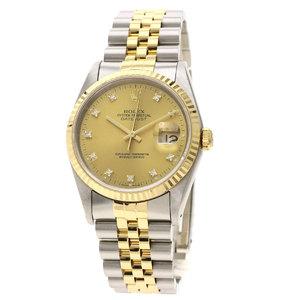 ROLEX Datejust 16233G 18K Gold Steel Automatic Mens Watch