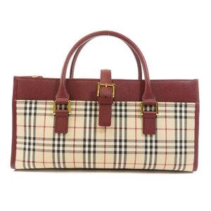 Burberry Nova Check Handbag Canvas Leather Women