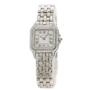 CARTIER Panthere Diamond 18K White Gold Quartz Ladies Watch WF3118F3