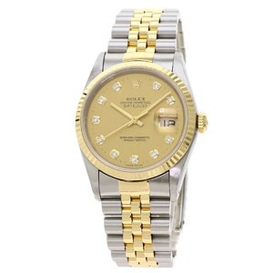 ROLEX Datejust 16233G S Serial 18K Gold Steel Automatic Mens Watch