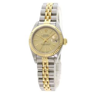 ROLEX Datejust 69173 T Serial 18K Gold Steel Automatic Ladies Watch