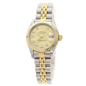ROLEX Datejust 69173G T Serial 18K Gold Steel Automatic Ladies Watch