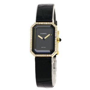 CHANEL Premiere Diamond 18K Gold Leather Quartz Ladies Watch H0094