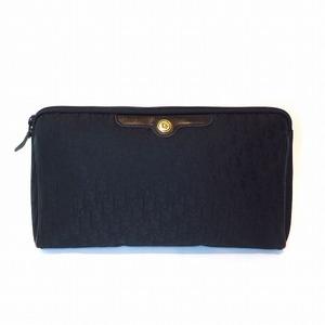 Christian Dior Dior trotter logo pouch black bag clutch unisex