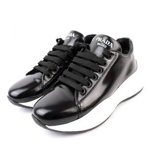 Prada Platform Leather Sneaker Logo Women's 35.5