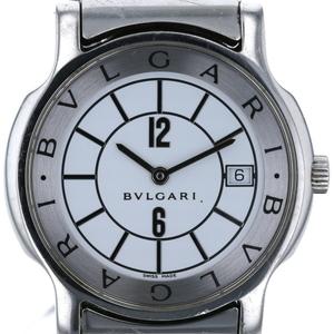Bvlgari Solo Tempo Date ST35S Quartz White Dial Men's Watch