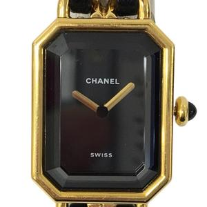 CHANEL Premiere Size XL Gold Plated Leather Quartz Ladies Watch H0001