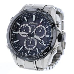 SEIKO Astron GPS Ceramic Steel Solar Mens Watch 8X82-0AC0