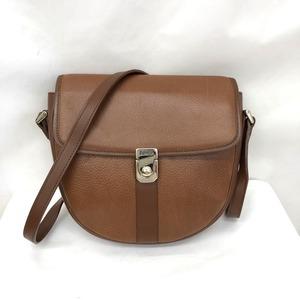 Burberry Shoulder Bag Leather Brown Crossbody Ladies