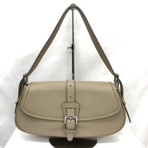 Burberry Handbag Leather Belt Motif One Shoulder Bag Ladies