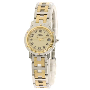 HERMES Clipper Gold Plated Steel Quartz Ladies Watch CL4.220