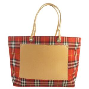 Burberry Nova Check Handbag Canvas Women