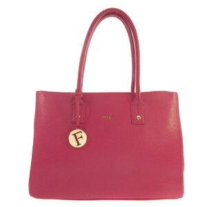 Furla Logo Tote Bag Leather Women