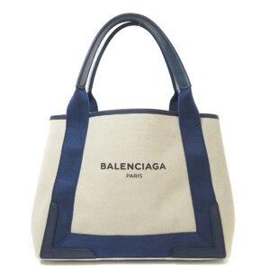 Balenciaga 339933 Navy Hippo Tote Bag Canvas Ladies