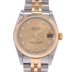 ROLEX Datejust 68273G N SerialDiamond 18K Gold Steel Automatic Ladies Watch