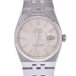ROLEX Datejust Oyster Quartz 17014 18K White Gold Steel Mens Watch