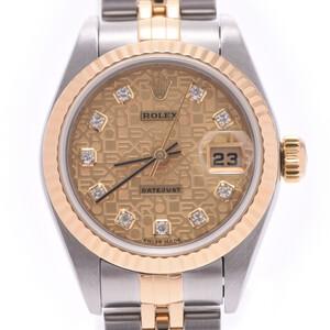 ROLEX Datejust 79173G Y SerialDiamond 18K Gold Steel Automatic Ladies Watch