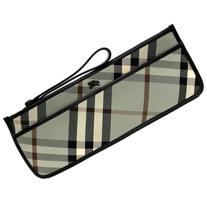 Burberry Pouch Nova Check 82/100 Omotesando Limited Leather Canvas BURBERRY Clutch Bag