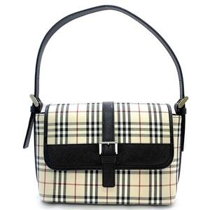 Burberry One Shoulder Bag Nova Check 450000 CAO2G 601254 Canvas Leather