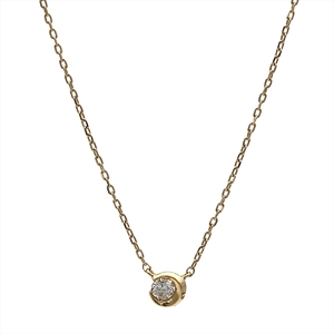 スター・ジュエリー(Star Jewelry) K18イエローゴールド(K18YG) ダイヤモンド レディース カジュアル ペンダント カラット/0.04 (イエローゴールド(YG)) MOON SETTING